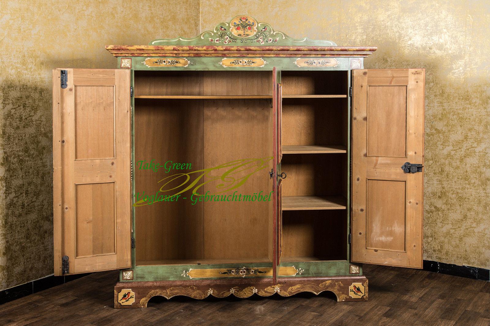 anno 1800 altgrün bauernschrank - alpenland möbel